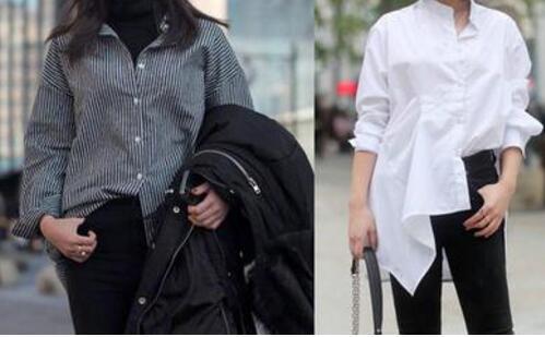 衬衫怎么塞进裤子好看 女子衬衫扎裤子塞一半留一半教程