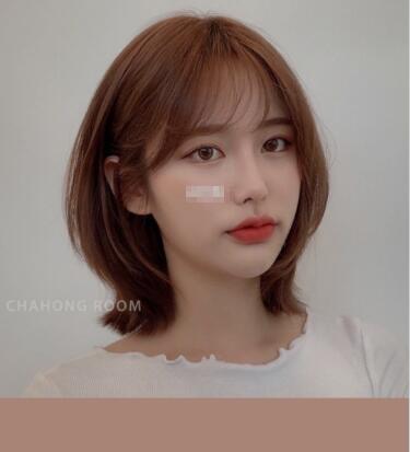 2019秋冬韩式空气刘海图片 圆脸这样配超显脸小